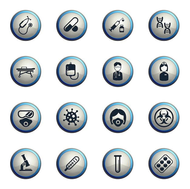 Jeu d'icônes de coronavirus pour infographie ou site web novel coronavirus 2019ncov