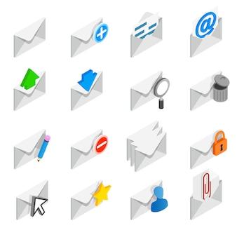 Jeu d'icônes de courrier