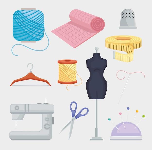 Jeu d'icônes de couture