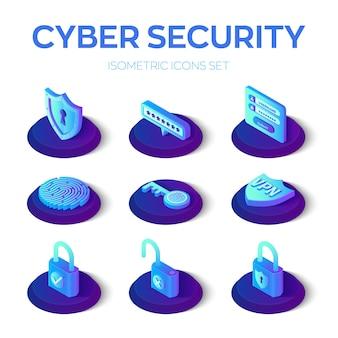 Jeu d'icônes de cybersécurité