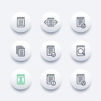 Jeu d'icônes de documents