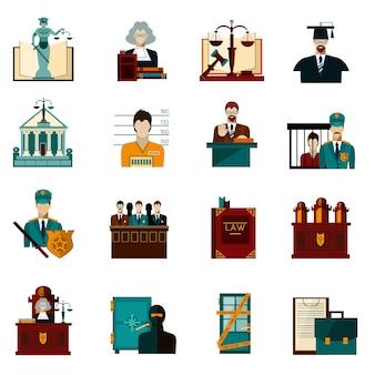 Jeu d'icônes de droit