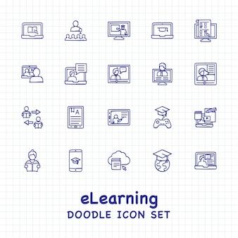 Jeu d'icônes e-learning
