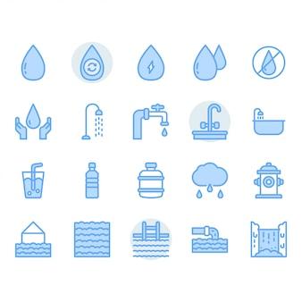 Jeu d'icônes de l'eau