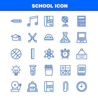 Jeu d'icônes de l'école