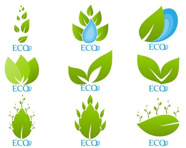 Jeu d'icônes de l'écologie