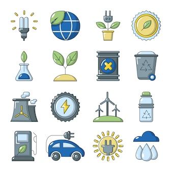 Jeu d'icônes d'écologie