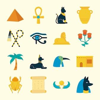 Jeu d'icônes de l'egypte ancienne