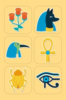 Jeu d'icônes de l'egypte