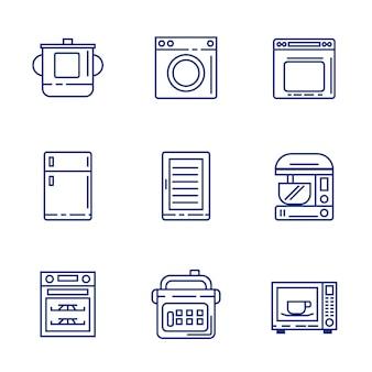 Jeu d'icônes électroniques à domicile