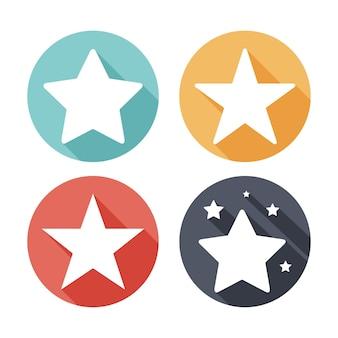 Jeu d'icônes étoile vecteur de couleur.