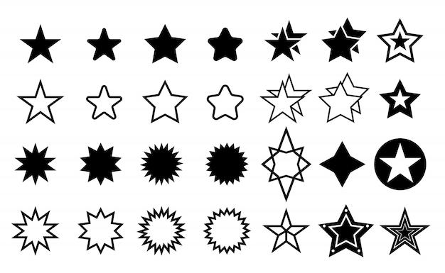 Jeu d'icônes étoiles