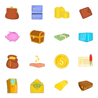 Jeu d'icônes de finances