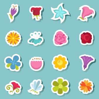 Jeu d'icônes de fleurs