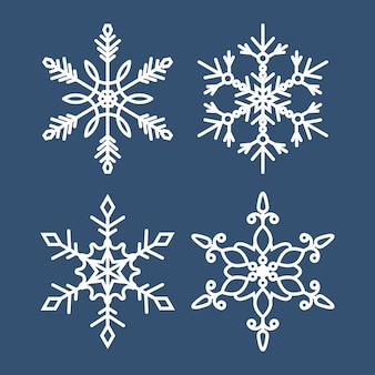 Jeu d'icônes de flocons de neige