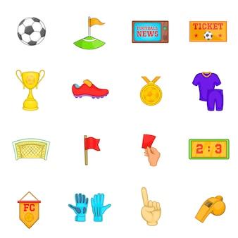 Jeu d'icônes de football