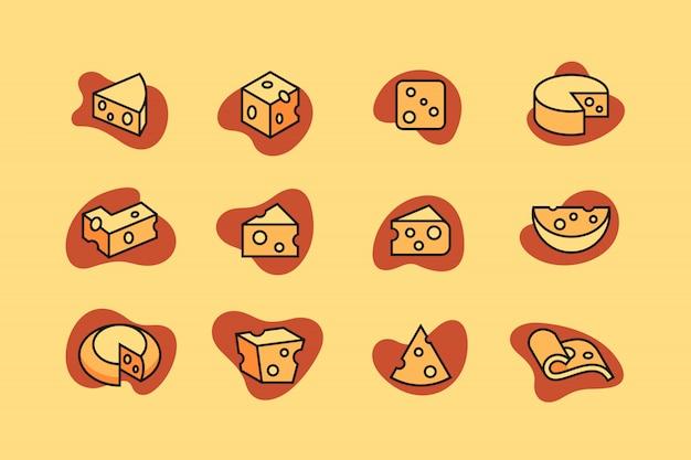 Jeu d'icônes de fromage