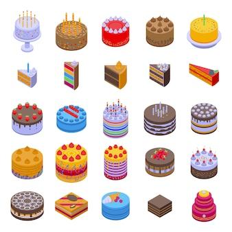 Jeu d'icônes de gâteau.