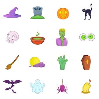 Jeu d'icônes d'halloween