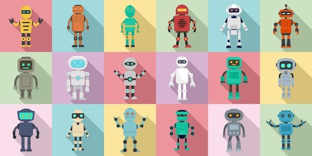 Jeu d'icônes humanoïdes