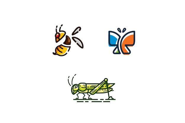 Jeu d'icônes insectes