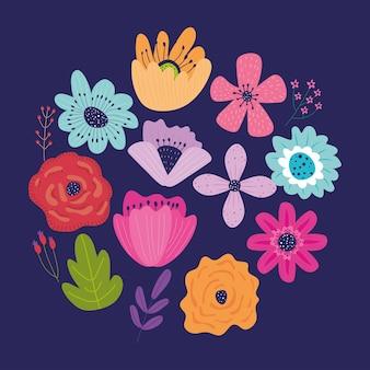 Jeu d & # 39; icônes de jardin