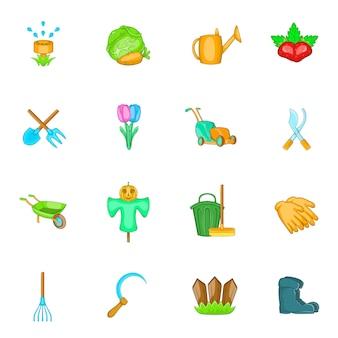 Jeu d'icônes de jardin