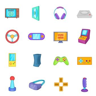 Jeu d'icônes de jeux vidéo