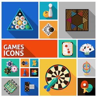 Jeu d'icônes de jeux