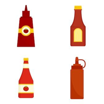 Jeu d'icônes de ketchup