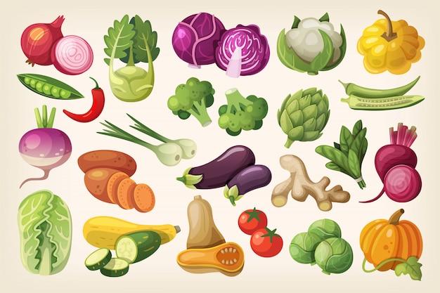 Jeu d'icônes de légumes