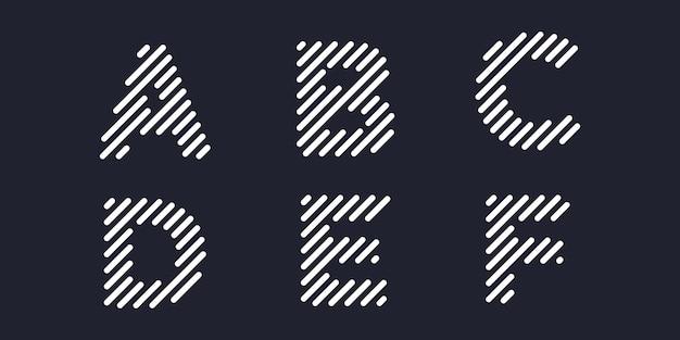 Jeu d'icônes de logotype simple, élément combiné de lettre numérique ou données. modèle de conception de logo