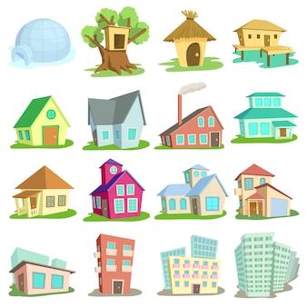 Jeu d'icônes de maisons