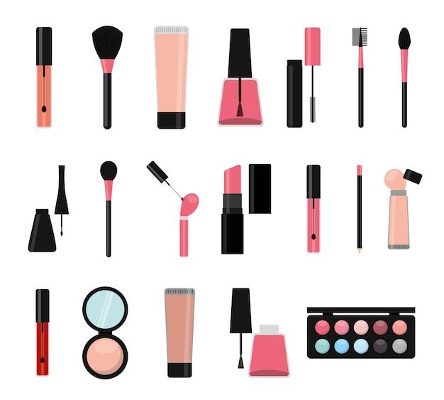 Jeu d'icônes de maquillage isolé