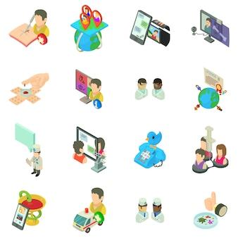 Jeu d'icônes de médecine en ligne