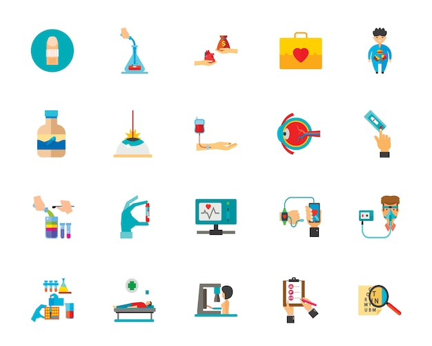 Jeu d'icônes de médecine