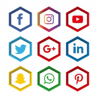 Jeu d'icônes de médias sociaux. logo