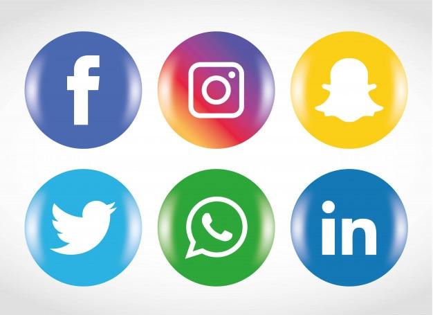Jeu d'icônes de médias sociaux.
