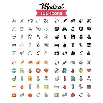 Jeu d'icônes médicales.