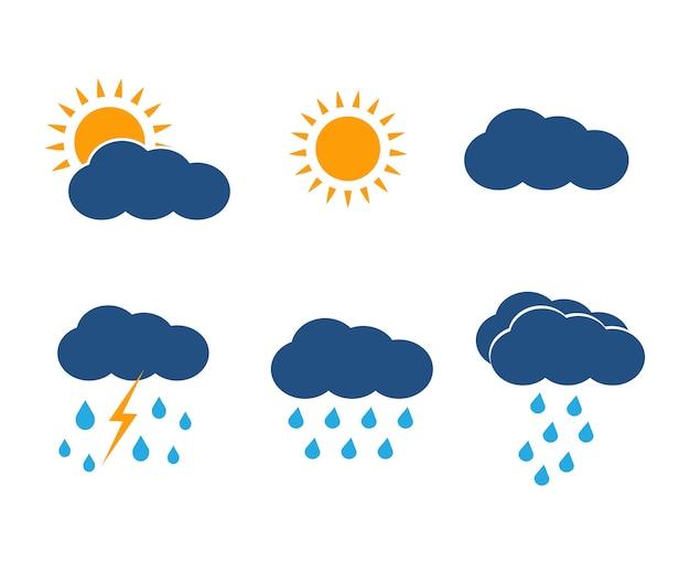 Jeu d'icônes météo vector.