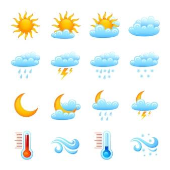 Jeu d'icônes météo
