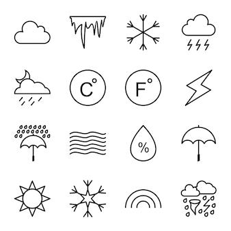 Jeu d'icônes de la météo