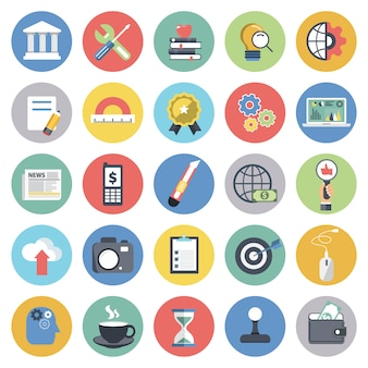 Jeu d'icônes métier pour sites web et applications mobiles