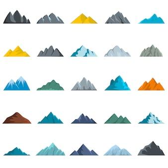 Jeu d'icônes de montagne