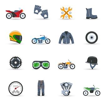 Jeu d'icônes moto