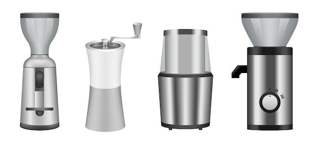 Jeu d'icônes de moulin à café