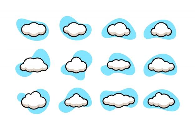 Jeu d'icônes de nuage