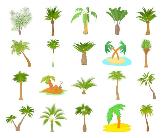 Jeu d'icônes de palmier