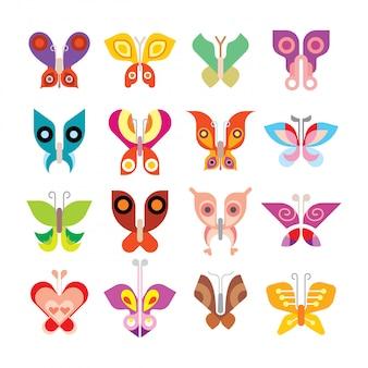 Jeu d'icônes de papillon