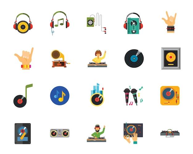 Jeu d'icônes de performance musicale